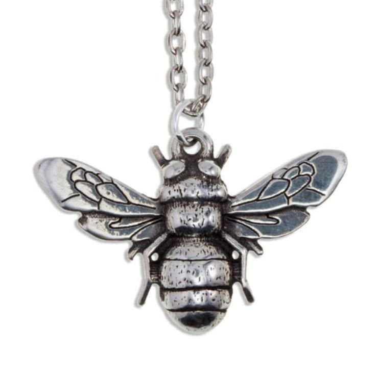 Image 1 of Bee Insect Themed Child Stylish Pewter Pendant