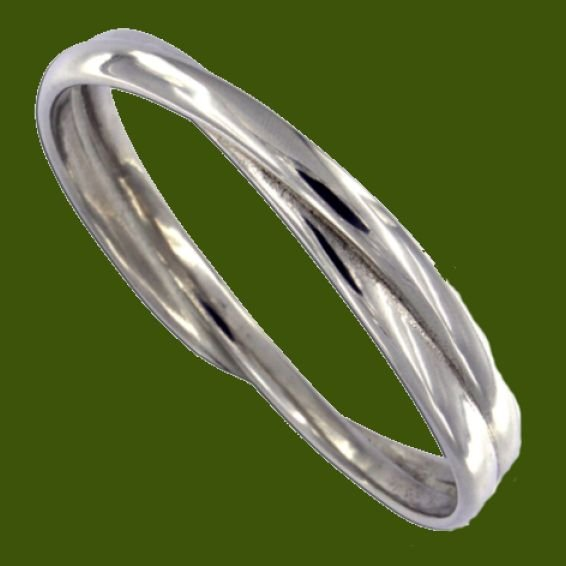 Image 0 of Double Entwined Loop Polished Medium Stylish Pewter Bangle