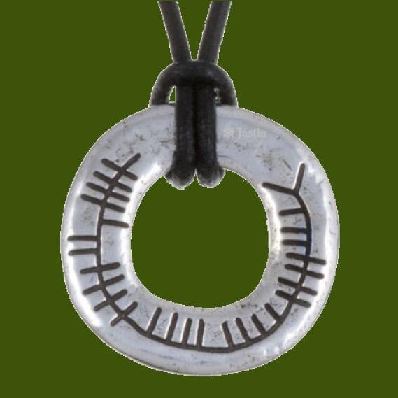Image 0 of Celtic Blessing Ogham Inscription Stylish Pewter Pendant