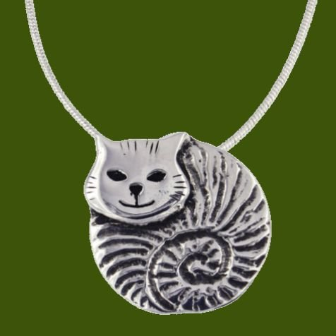 Image 0 of Fat Cat Animal Themed Stylish Pewter Pendant