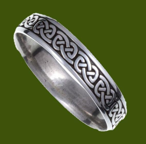 Image 0 of Celtic Knotwork Embossed Small Stylish Pewter Bangle