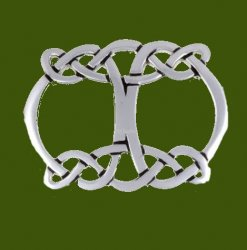 Celtic Open Initial Knotwork Stylish Pewter Scarf Slide
