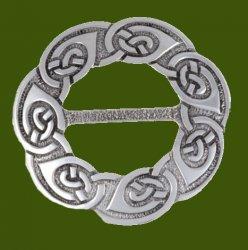 Celtic Endless Knotwork Large Round Stylish Pewter Scarf Slide