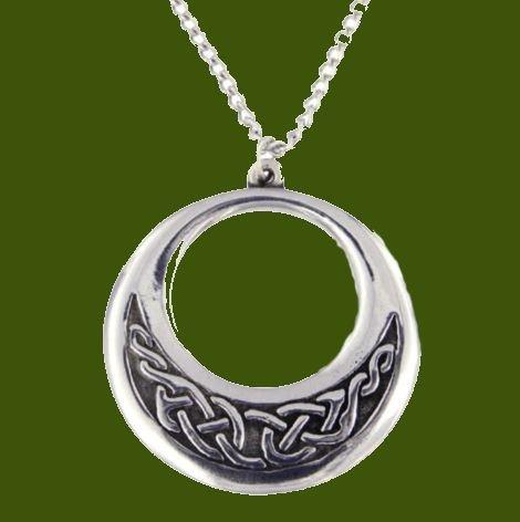 Image 0 of Celtic Creole Open Knotwork Round Stylish Pewter Pendant