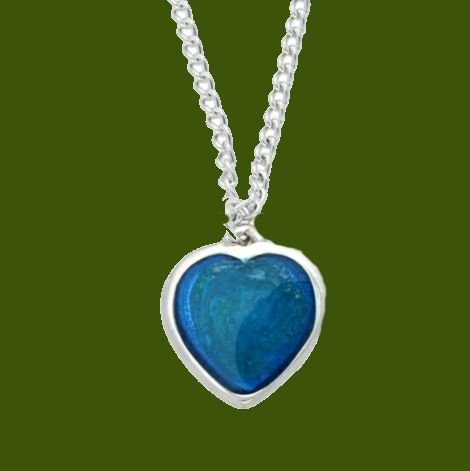 Image 0 of Love Heart Blue Enamel Small Stylish Pewter Pendant