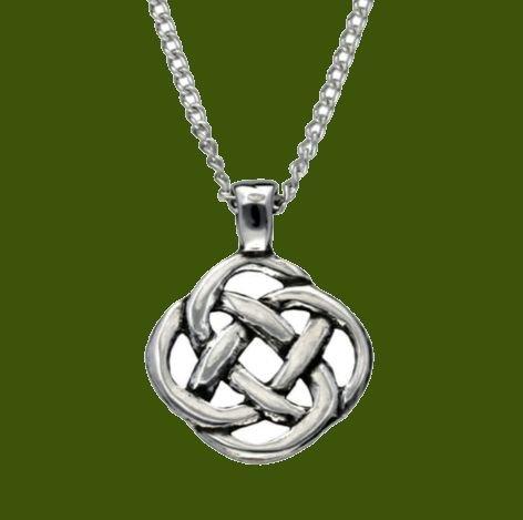 Image 0 of Celtic Square Infinity Knotwork Design Stylish Pewter Pendant