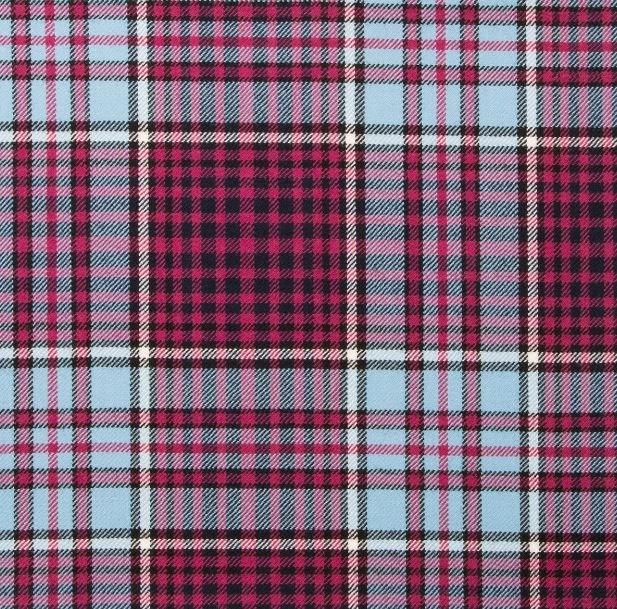 Image 1 of Bristish Columbia Canadian Springweight 8oz Tartan Wool Fabric