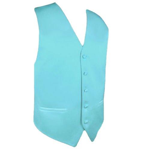 Image 1 of Aqua Turquoise Formal Groomsmen Groom Wedding Vest Mens Waistcoat