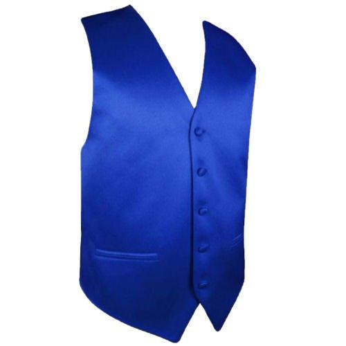 Image 1 of Royal Blue Formal Groomsmen Groom Wedding Vest Mens Waistcoat