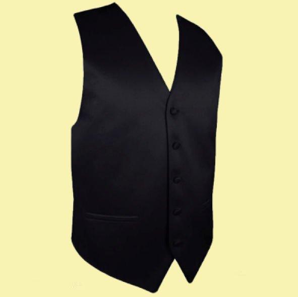 Image 0 of Black Formal Groomsmen Groom Wedding Vest Mens Waistcoat