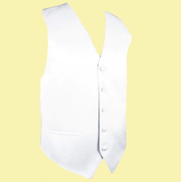 Image 0 of White Formal Groomsmen Groom Wedding Vest Mens Waistcoat