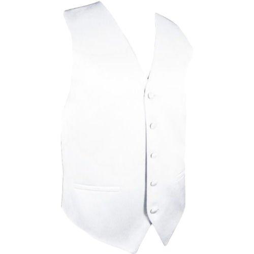 Image 1 of White Formal Groomsmen Groom Wedding Vest Mens Waistcoat