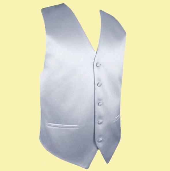 Image 0 of Silver Grey Formal Groomsmen Groom Wedding Vest Mens Waistcoat