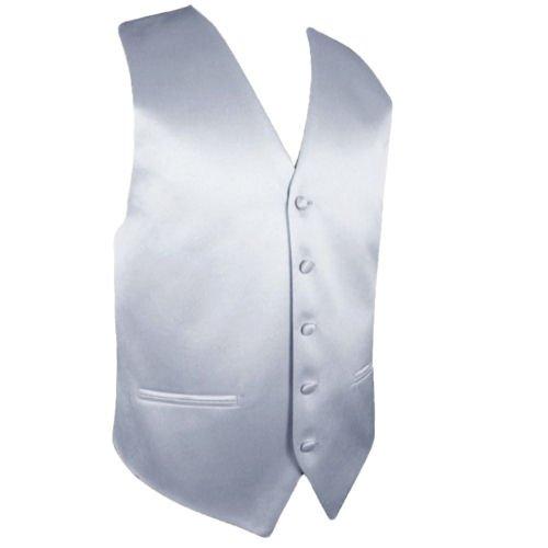 Image 1 of Silver Grey Formal Groomsmen Groom Wedding Vest Mens Waistcoat