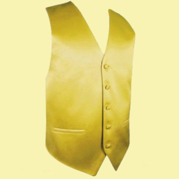 Image 0 of Metallic Gold Formal Ages 7-12 Boys Wedding Vest Boys Waistcoat