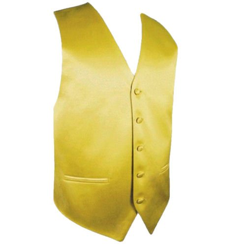 Image 1 of Metallic Gold Formal Ages 7-12 Boys Wedding Vest Boys Waistcoat