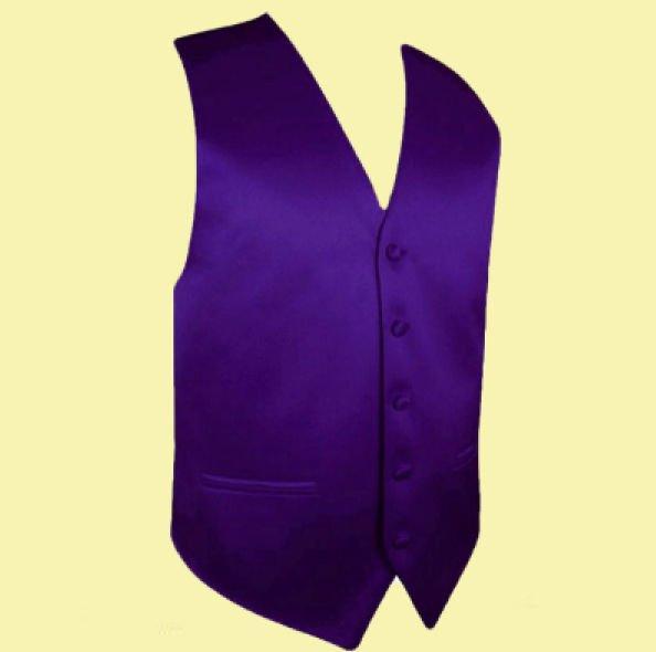 Image 0 of Dark Purple Formal Groomsmen Groom Wedding Vest Mens Waistcoat
