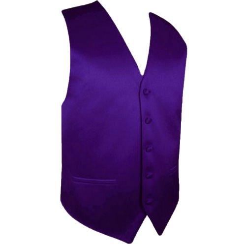Image 1 of Dark Purple Formal Groomsmen Groom Wedding Vest Mens Waistcoat