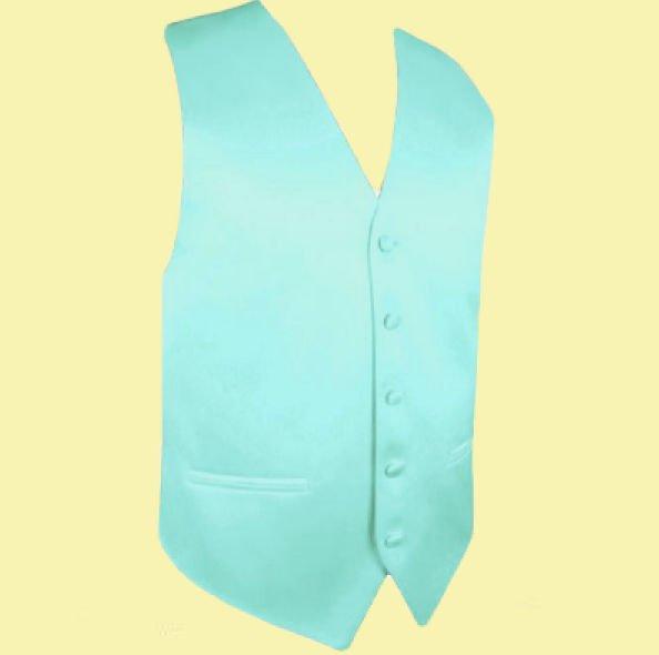 Image 0 of Light Mint Green Formal Ages 7-12 Boys Wedding Vest Boys Waistcoat