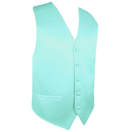 Image 1 of Light Mint Green Formal Ages 7-12 Boys Wedding Vest Boys Waistcoat