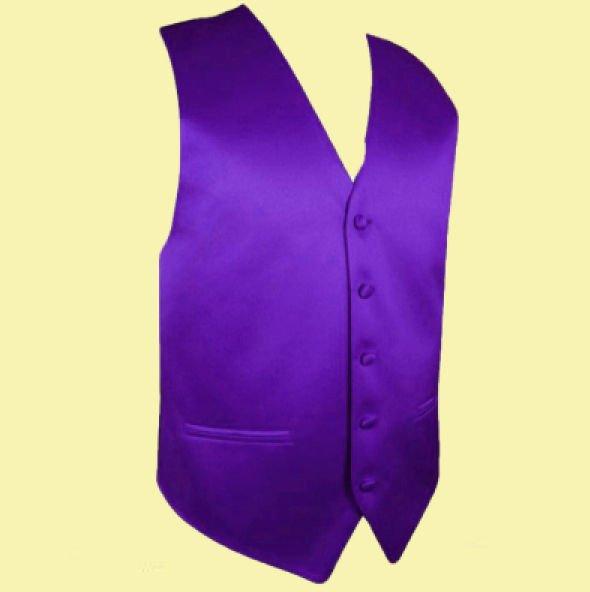 Image 0 of Cadbury Purple Formal Ages 7-12 Boys Wedding Vest Boys Waistcoat