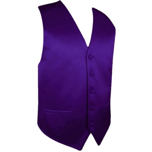Image 1 of Dark Purple Formal Ages 7-12 Boys Wedding Vest Boys Waistcoat