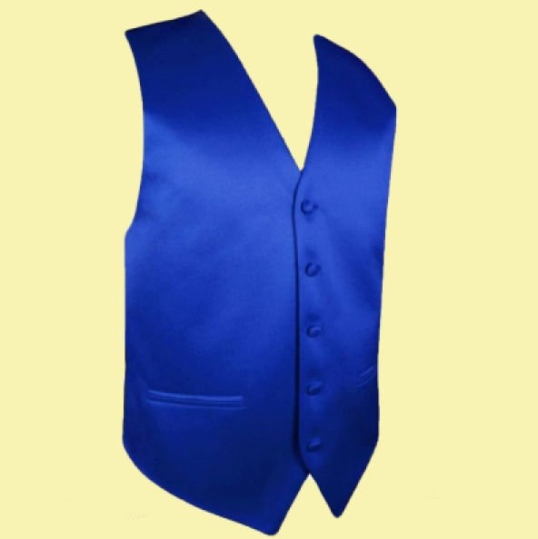 Image 0 of Royal Blue Formal Ages 7-12 Boys Wedding Vest Boys Waistcoat