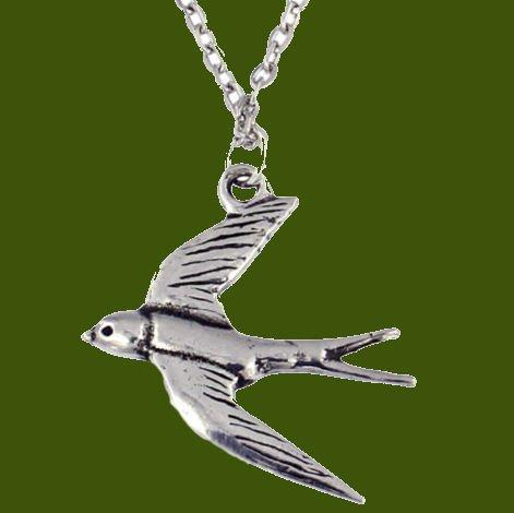 Image 0 of Flying Swift Bird Themed Stylish Pewter Pendant