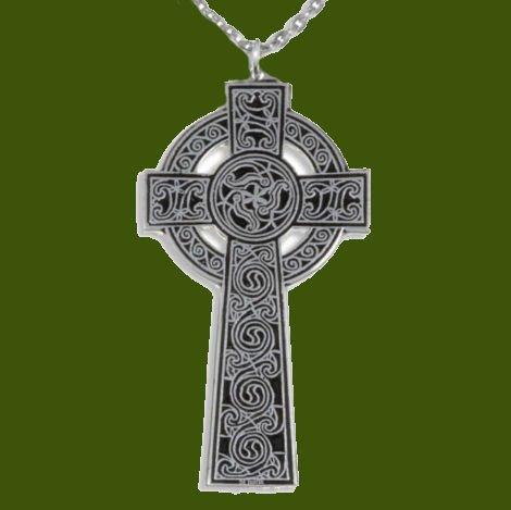 Image 0 of Kaleidoscope Celtic Cross Knotwork Large Stylish Pewter Pendant