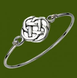 Celtic Infinity Knot Symbol Silver Plated Clip On Bangle