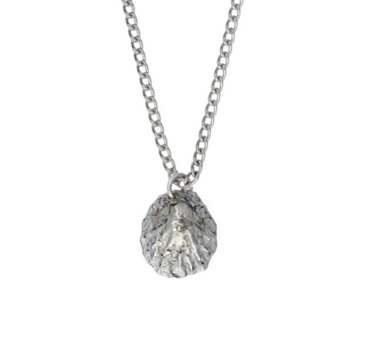 Image 1 of Limpet Shell Marine Themed Small Stylish Pewter Pendant
