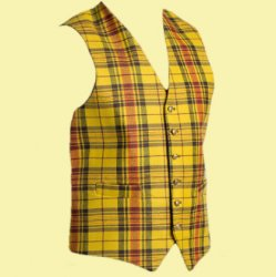 Morgan Welsh Tartan Wool Fabric Mens Vest Waistcoat