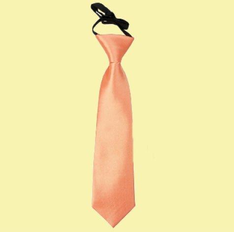 Image 0 of Coral Boys Plain Satin Elastic Tie Wedding Necktie