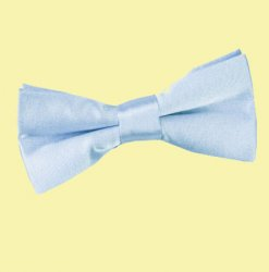 Baby Blue Boys Plain Satin Bow Tie Wedding Neck Bow Tie