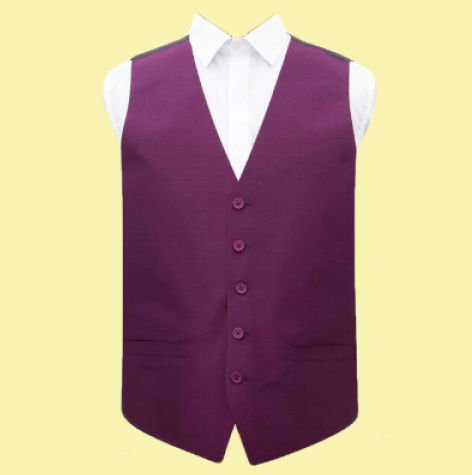 Image 0 of Orchid Mens Plain Shantung Wedding Vest Waistcoat