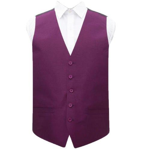 Image 1 of Orchid Mens Plain Shantung Wedding Vest Waistcoat