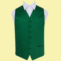 Emerald Green Mens Plain Satin Wedding Vest Waistcoat