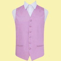 Lilac Mens Plain Satin Wedding Vest Waistcoat