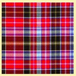 Aberdeen Lightweight Tartan Wool Fabric Mens Cummerbund