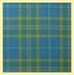 All Ireland Blue Lightweight Tartan Wool Fabric Mens Cummerbund