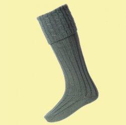 Ancient Green Wool Blend Harris Full Length Mens Kilt Hose Highland Socks