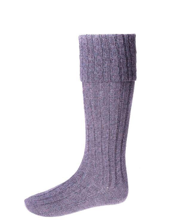 Image 1 of Amethyst Wool Blend Hebridean Full Length Mens Kilt Hose Highland Socks