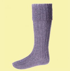 Amethyst Wool Blend Hebridean Full Length Mens Kilt Hose Highland Socks