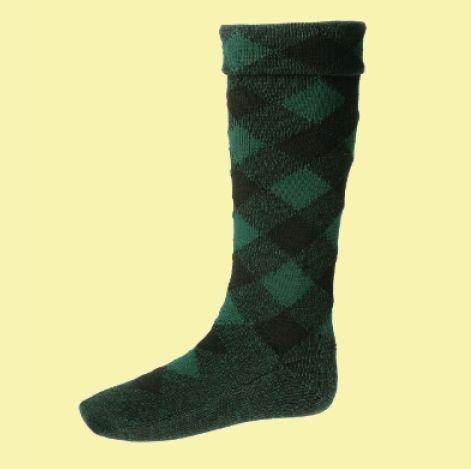 Image 0 of Blackwatch Diced Wool Full Length Mens Kilt Hose Highland Socks