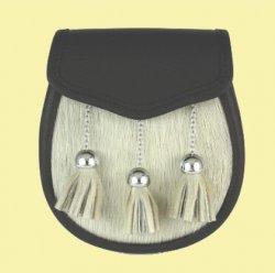 Sporting Simple Straight Chain Ball Tassels Semi-Formal Leather Mens Sporran