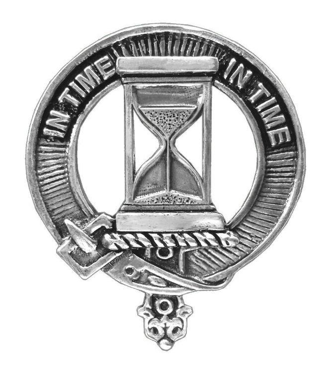 Image 1 of Houston Clan Cap Crest Stylish Pewter Clan Houston Badge