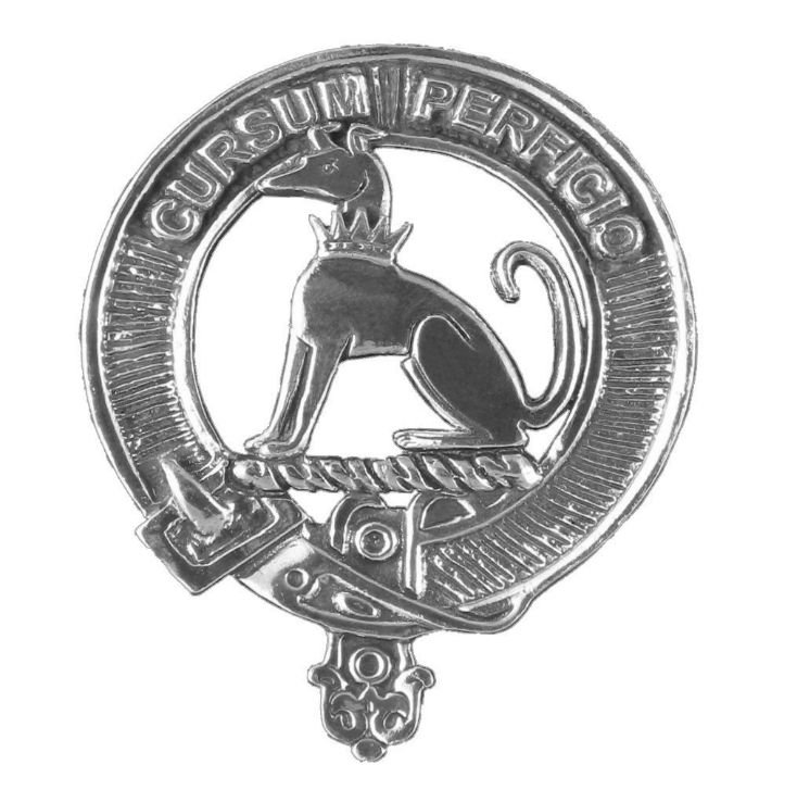 Image 1 of Hunter Clan Cap Crest Stylish Pewter Clan Hunter Badge