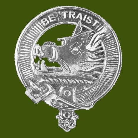 Image 0 of Innes Clan Cap Crest Stylish Pewter Clan Innes Badge