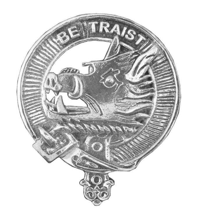 Image 1 of Innes Clan Cap Crest Stylish Pewter Clan Innes Badge