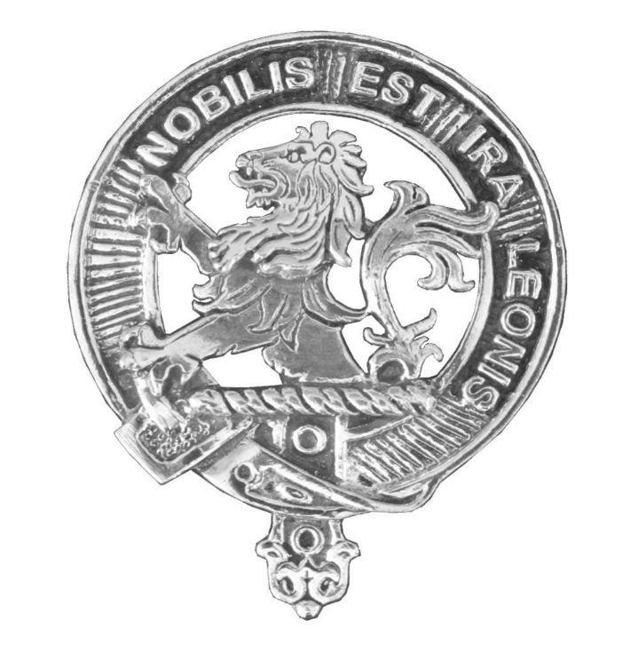 Image 1 of Inglis Clan Cap Crest Stylish Pewter Clan Inglis Badge